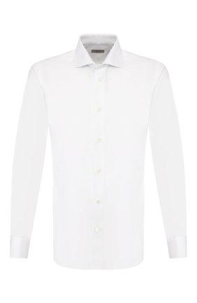 Мужская хлопковая сорочка Z ZEGNA белого цвета, арт. VT241/ZZC01 | Фото 1