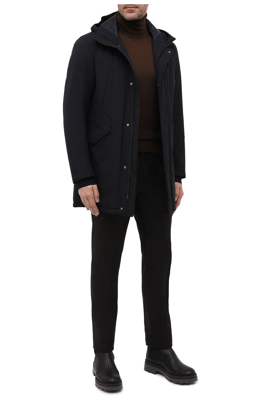 Мужская пуховая парка HERNO черного цвета, арт. PI100UL/11121 | Фото 2