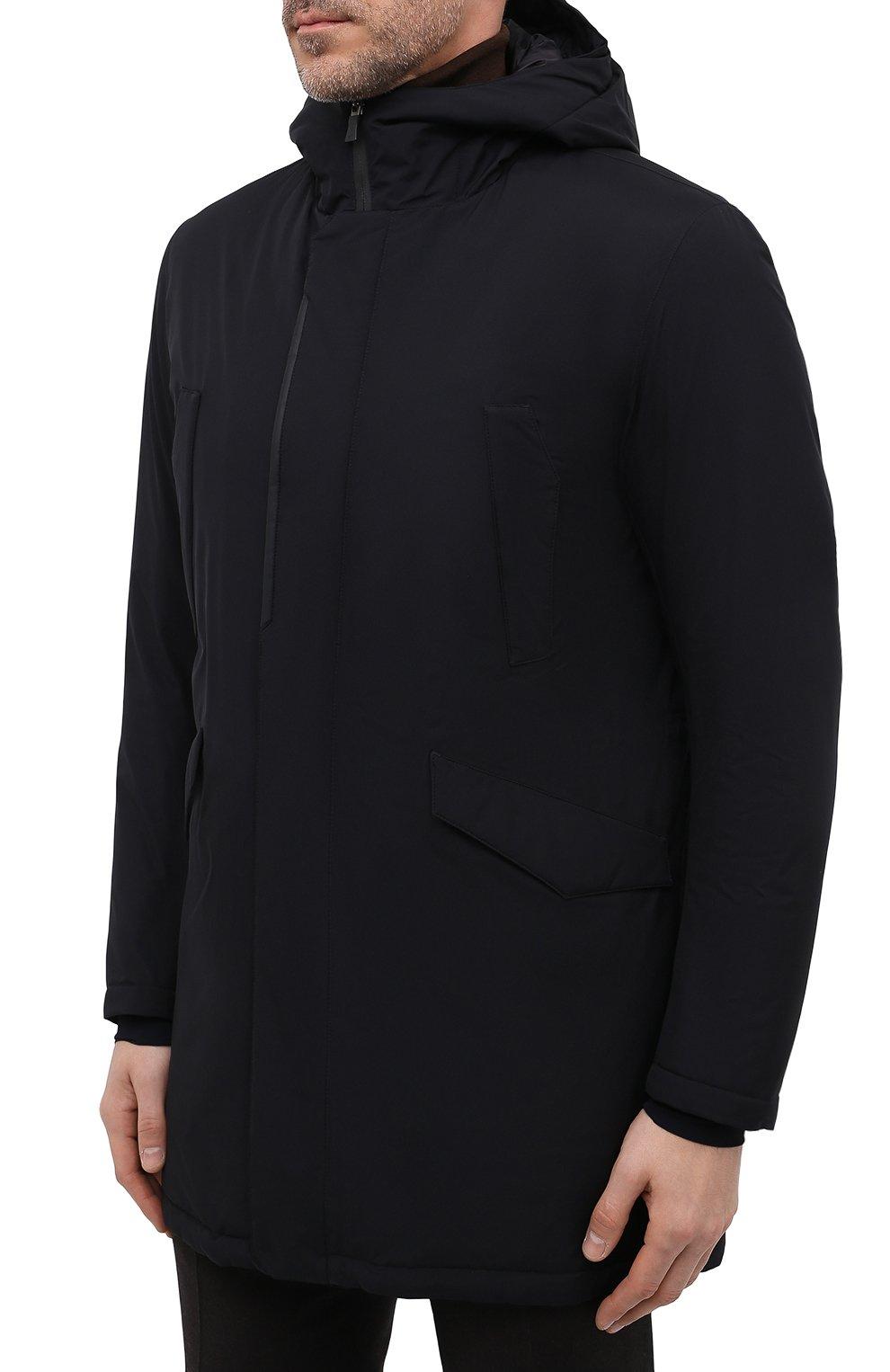 Мужская пуховая парка HERNO черного цвета, арт. PI100UL/11121 | Фото 3