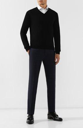 Мужской шерстяной пуловер CORNELIANI черного цвета, арт. 00M501-0025100/00 | Фото 2