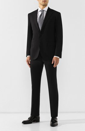 Мужской шерстяной костюм CORNELIANI черного цвета, арт. 847268-9818150/92 Q1 | Фото 1