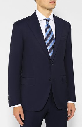 Мужской шерстяной костюм CORNELIANI синего цвета, арт. 847268-9818150/92 Q1 | Фото 2
