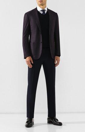 Мужской шерстяные брюки CORNELIANI темно-синего цвета, арт. 845264-9818276/02 | Фото 2