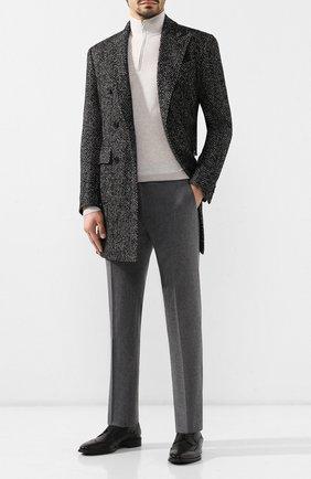 Мужской шерстяные брюки CORNELIANI серого цвета, арт. 845264-9818111/02 | Фото 2