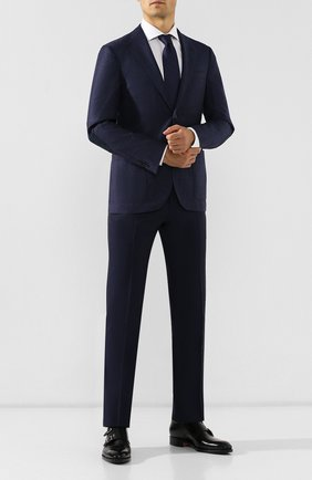 Мужской шерстяные брюки CORNELIANI синего цвета, арт. 845263-9818150/02 | Фото 2