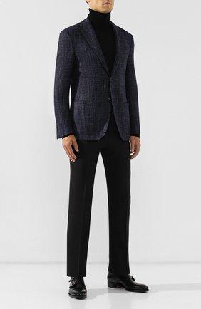 Мужской шерстяные брюки CORNELIANI темно-синего цвета, арт. 845263-9818150/02 | Фото 2
