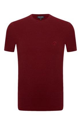 Мужская футболка из вискозы GIORGIO ARMANI красного цвета, арт. 3GST52/SJP4Z | Фото 1