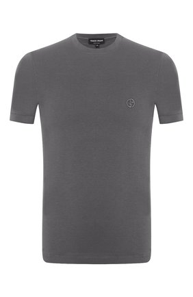 Мужская футболка из вискозы GIORGIO ARMANI серого цвета, арт. 3GST52/SJP4Z | Фото 1