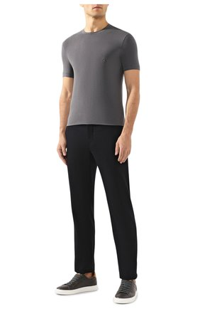 Мужская футболка из вискозы GIORGIO ARMANI серого цвета, арт. 3GST52/SJP4Z | Фото 2
