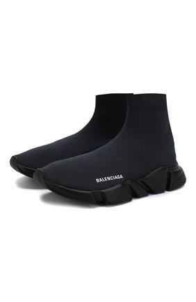 Мужские текстильные кроссовки speed BALENCIAGA темно-серого цвета, арт. 585009/W05G0 | Фото 1