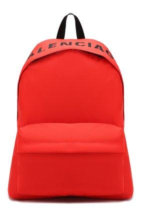Мужской текстильный рюкзак wheel BALENCIAGA красного цвета, арт. 507460/HPG1X | Фото 1