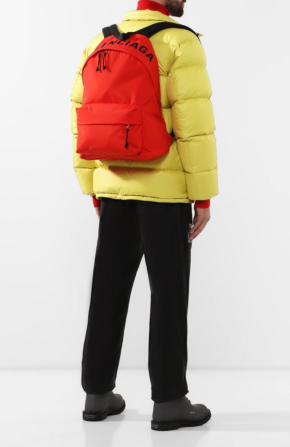 Мужской текстильный рюкзак wheel BALENCIAGA красного цвета, арт. 507460/HPG1X | Фото 2