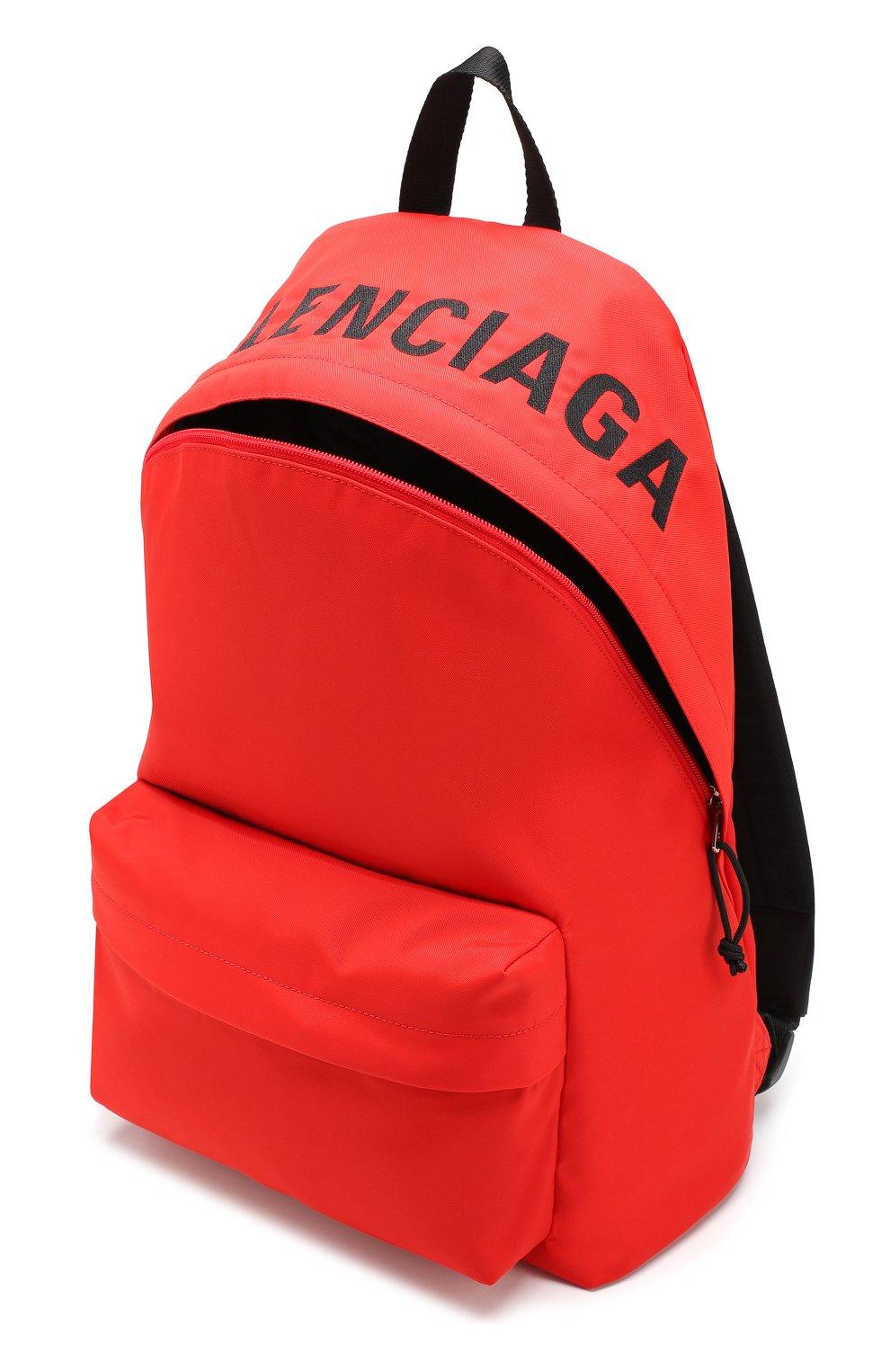 Мужской текстильный рюкзак wheel BALENCIAGA красного цвета, арт. 507460/HPG1X | Фото 4