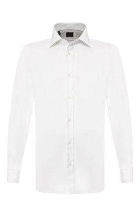 Мужская хлопковая сорочка LUIGI BORRELLI белого цвета, арт. EV08/LUCIAN0 DC/TS10224 | Фото 1