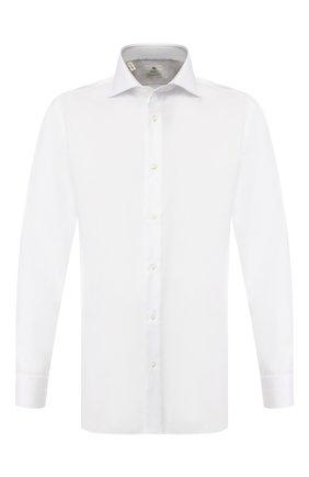 Мужская хлопковая сорочка LUIGI BORRELLI белого цвета, арт. EV08/ARCHILLE/TS10420 | Фото 1