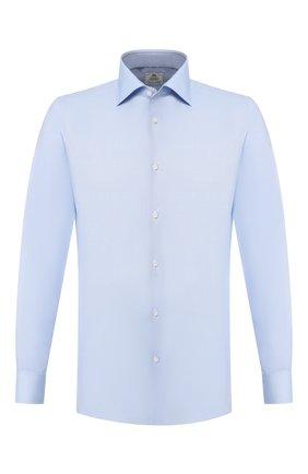 Мужская хлопковая сорочка LUIGI BORRELLI голубого цвета, арт. EV08/LUCIAN0/TS10514 | Фото 1