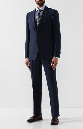 Мужская хлопковая сорочка LUIGI BORRELLI голубого цвета, арт. EV08/LUCIAN0/TS10514 | Фото 2
