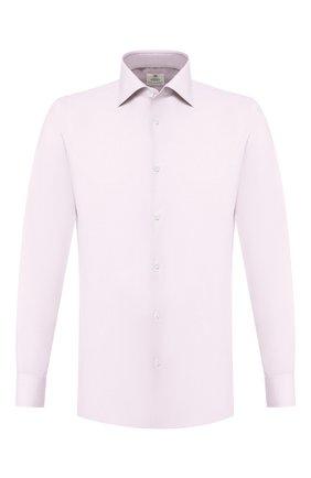 Мужская хлопковая сорочка LUIGI BORRELLI розового цвета, арт. EV08/LUCIAN0/TS10514 | Фото 1
