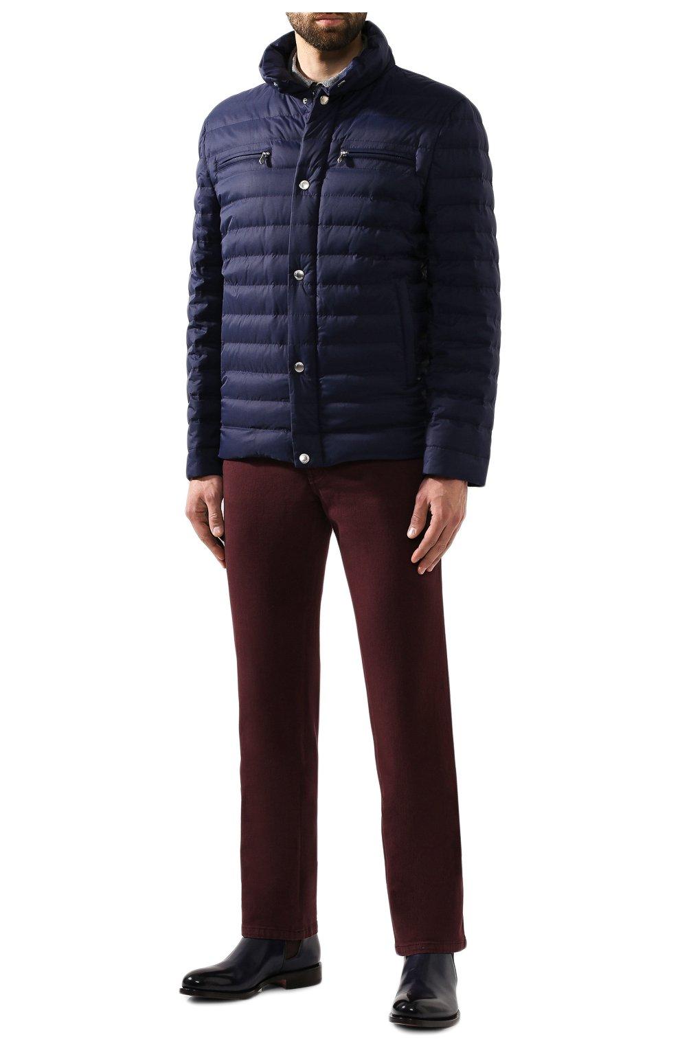 Мужские джинсы BRIONI бордового цвета, арт. SPNJ0M/08T01/STELVI0   Фото 2