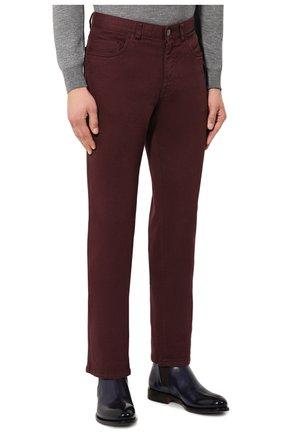 Мужские джинсы BRIONI бордового цвета, арт. SPNJ0M/08T01/STELVI0   Фото 3