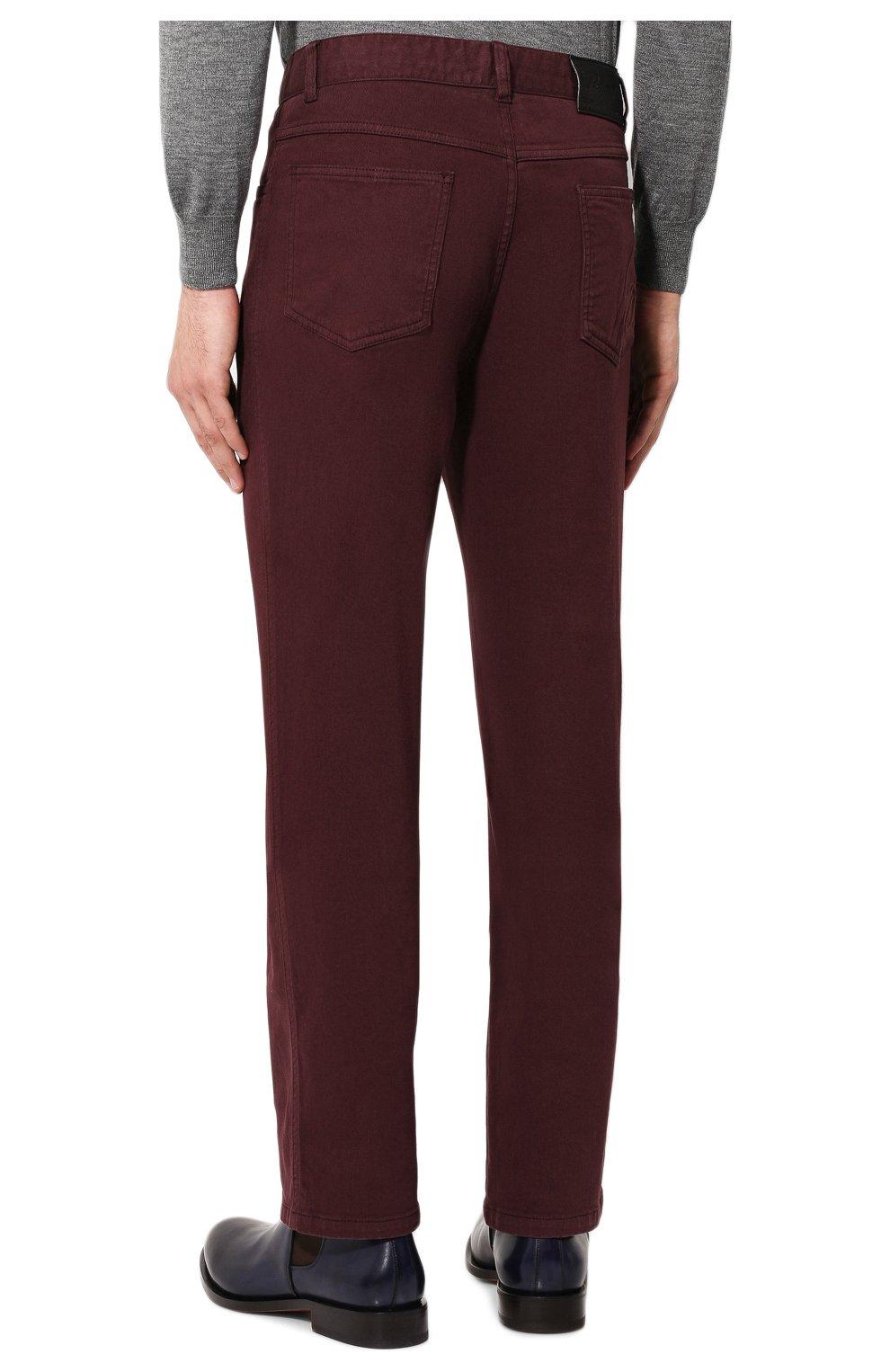 Мужские джинсы BRIONI бордового цвета, арт. SPNJ0M/08T01/STELVI0   Фото 4
