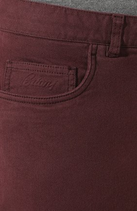 Мужские джинсы BRIONI бордового цвета, арт. SPNJ0M/08T01/STELVI0   Фото 5