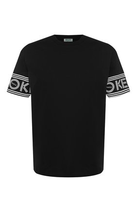 Мужская хлопковая футболка KENZO черного цвета, арт. F005TS0434BD | Фото 1