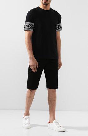 Мужская хлопковая футболка KENZO черного цвета, арт. F005TS0434BD | Фото 2