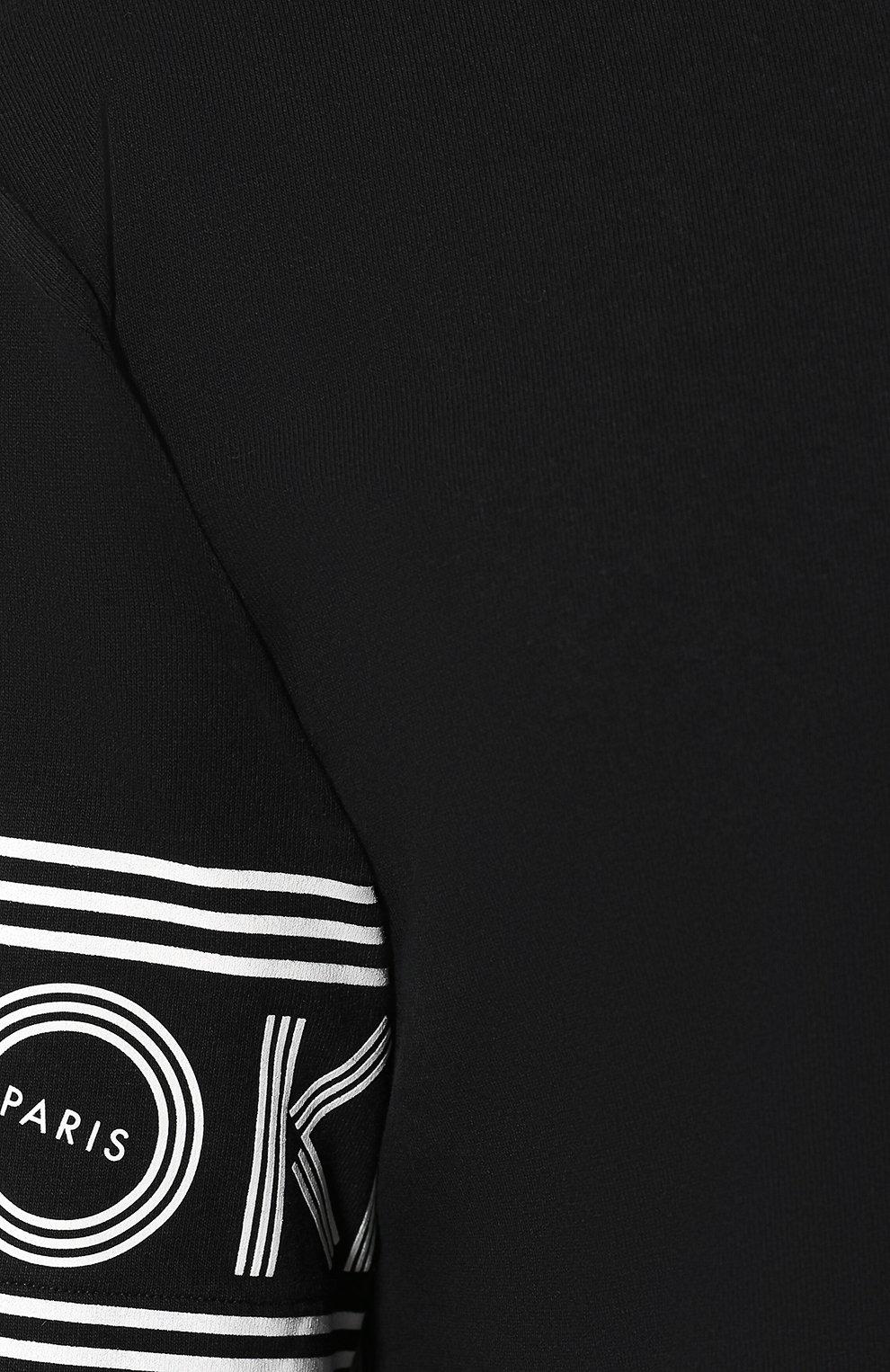 Мужская хлопковая футболка KENZO черного цвета, арт. F005TS0434BD | Фото 5