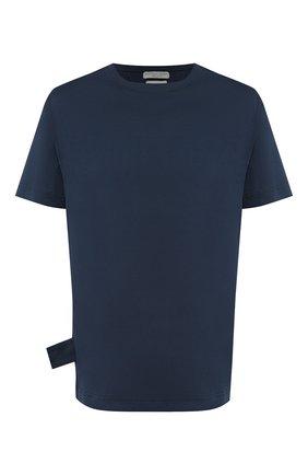Мужская хлопковая футболка BOTTEGA VENETA синего цвета, арт. 575589/VKAB0 | Фото 1