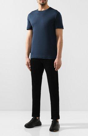 Мужская хлопковая футболка BOTTEGA VENETA синего цвета, арт. 575589/VKAB0 | Фото 2