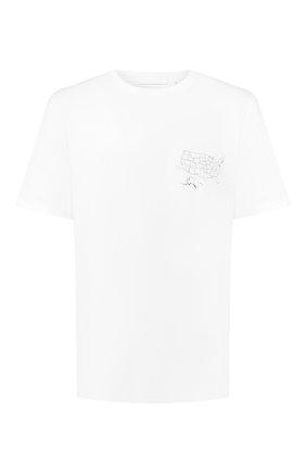 Мужская хлопковая футболка HELMUT LANG белого цвета, арт. J04HM517   Фото 1
