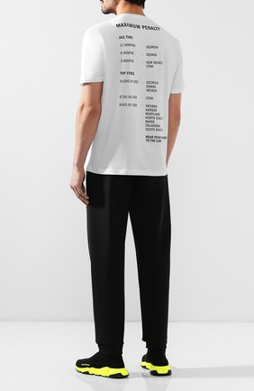Мужская хлопковая футболка HELMUT LANG белого цвета, арт. J04HM517   Фото 2