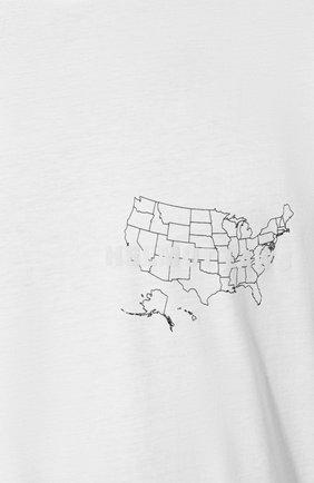 Мужская хлопковая футболка HELMUT LANG белого цвета, арт. J04HM517   Фото 5