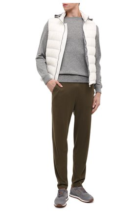 Мужские кашемировые брюки LORO PIANA хаки цвета, арт. FAG4527   Фото 2