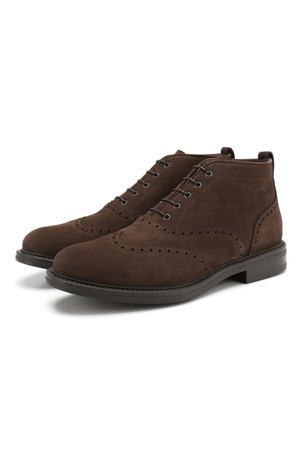 Мужские замшевые ботинки W.GIBBS темно-коричневого цвета, арт. 3169015/1521 | Фото 1