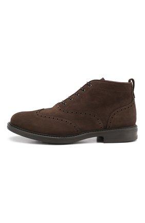 Мужские замшевые ботинки W.GIBBS темно-коричневого цвета, арт. 3169015/1521 | Фото 3