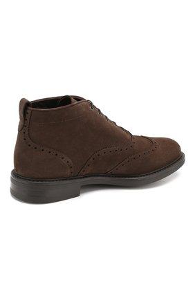 Мужские замшевые ботинки W.GIBBS темно-коричневого цвета, арт. 3169015/1521 | Фото 4