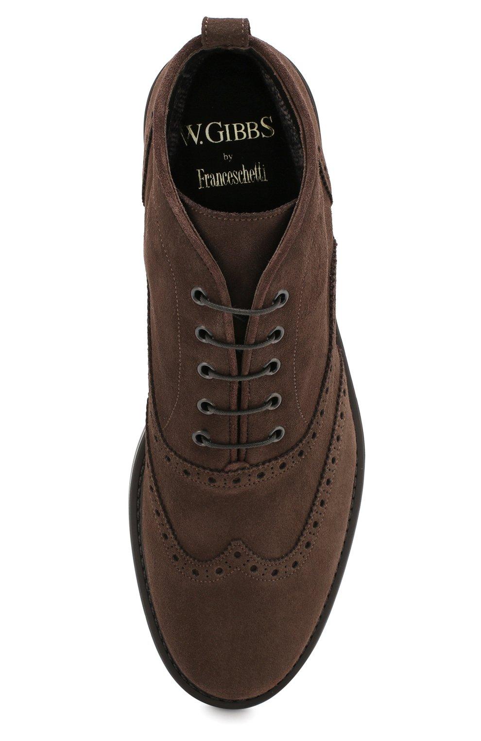Мужские замшевые ботинки W.GIBBS темно-коричневого цвета, арт. 3169015/1521 | Фото 5