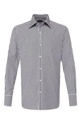 Мужская хлопковая сорочка TOM FORD черно-белого цвета, арт. 6FT642/94S1JE | Фото 1