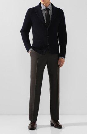 Мужская хлопковая сорочка TOM FORD черно-белого цвета, арт. 6FT642/94S1JE | Фото 2