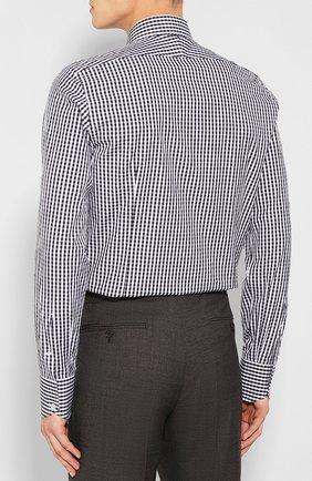 Мужская хлопковая сорочка TOM FORD черно-белого цвета, арт. 6FT642/94S1JE | Фото 4