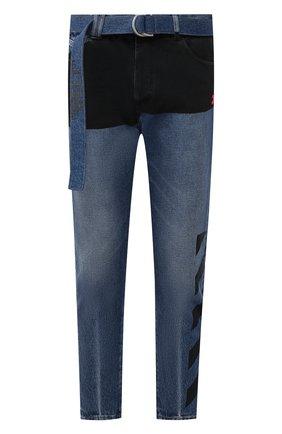 Мужские джинсы OFF-WHITE темно-синего цвета, арт. 0MYA005E193860453228 | Фото 1