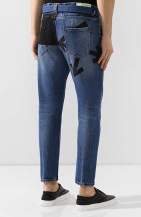 Мужские джинсы OFF-WHITE темно-синего цвета, арт. 0MYA005E193860453228 | Фото 4