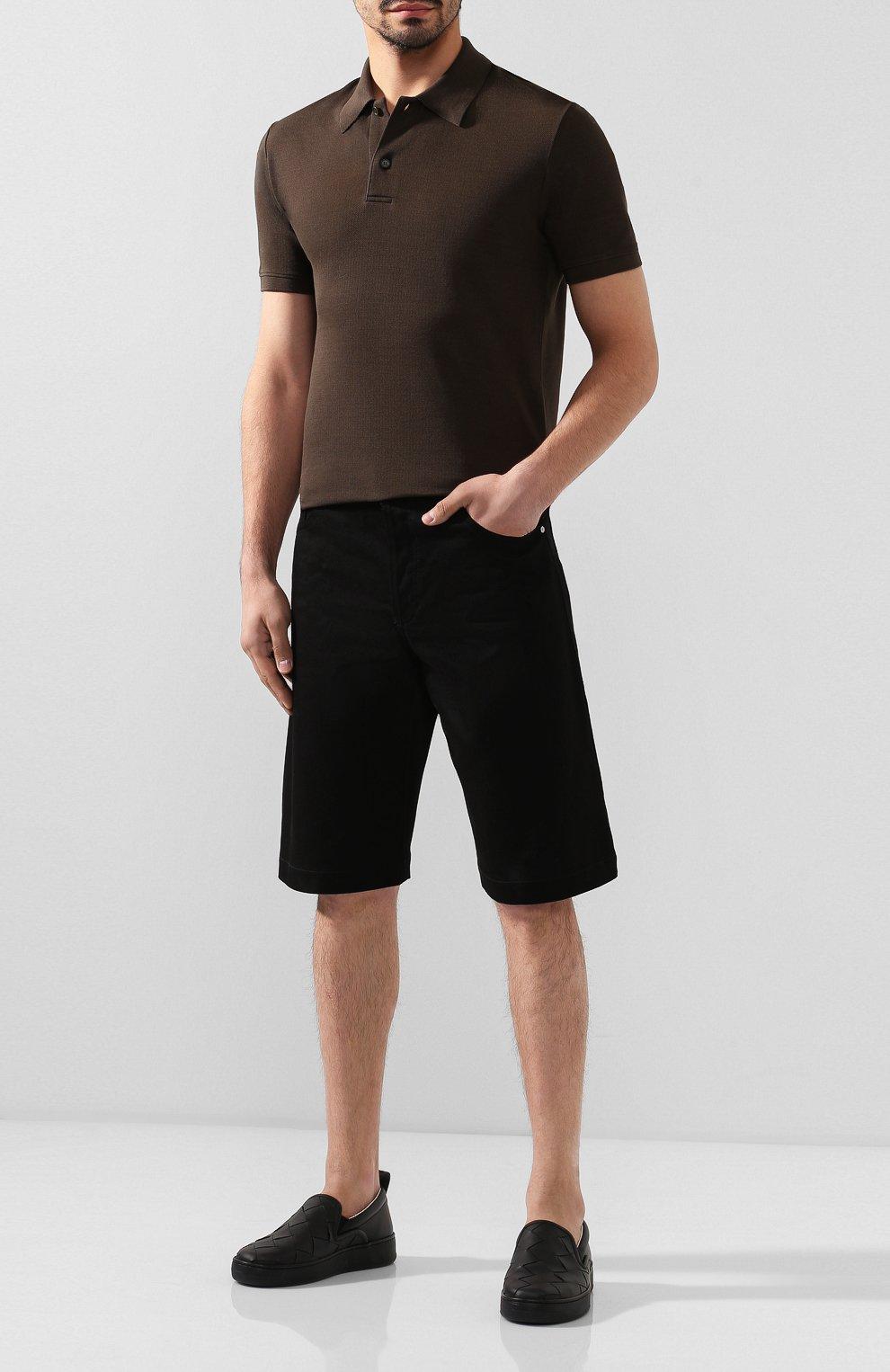 Мужские кожаные слипоны BOTTEGA VENETA черного цвета, арт. 578303/VBPG1 | Фото 2