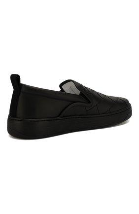 Мужские кожаные слипоны BOTTEGA VENETA черного цвета, арт. 578303/VBPG1 | Фото 4