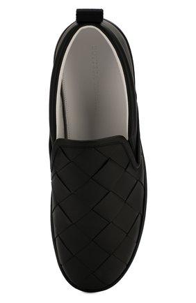 Мужские кожаные слипоны BOTTEGA VENETA черного цвета, арт. 578303/VBPG1 | Фото 5