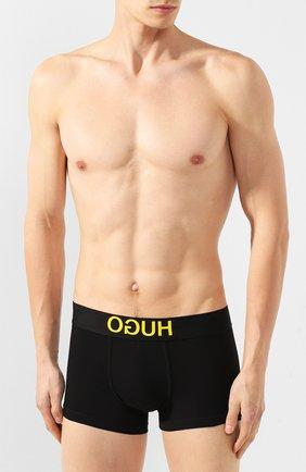 Мужские хлопковые боксеры HUGO черного цвета, арт. 50402264 | Фото 2