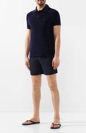 Мужское хлопковое поло VILEBREQUIN темно-синего цвета, арт. PAFP551P | Фото 2