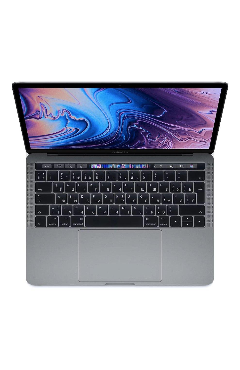 "Мужской macbook pro 13"" touch bar qc i5 1.4ghz 8gb iris645 256gb space gray APPLE  space gray цвета, арт. MUHP2RU/A | Фото 1"